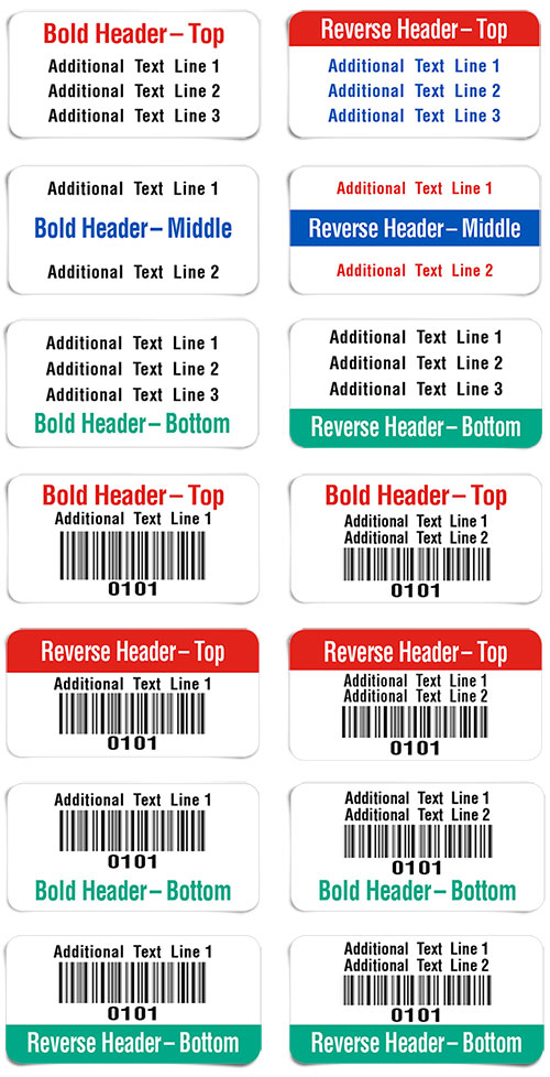 equipment labels