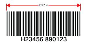 Code 128-B barcode: